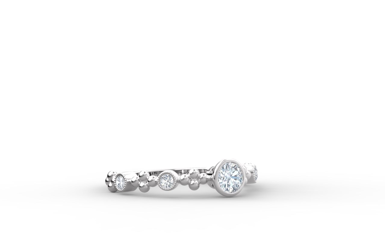 ee9acba67f608 The Forevermark Tribute™ Collection Feminine Diamond Ring | Forevermark